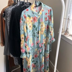 Sheer Floral Zara Blouse